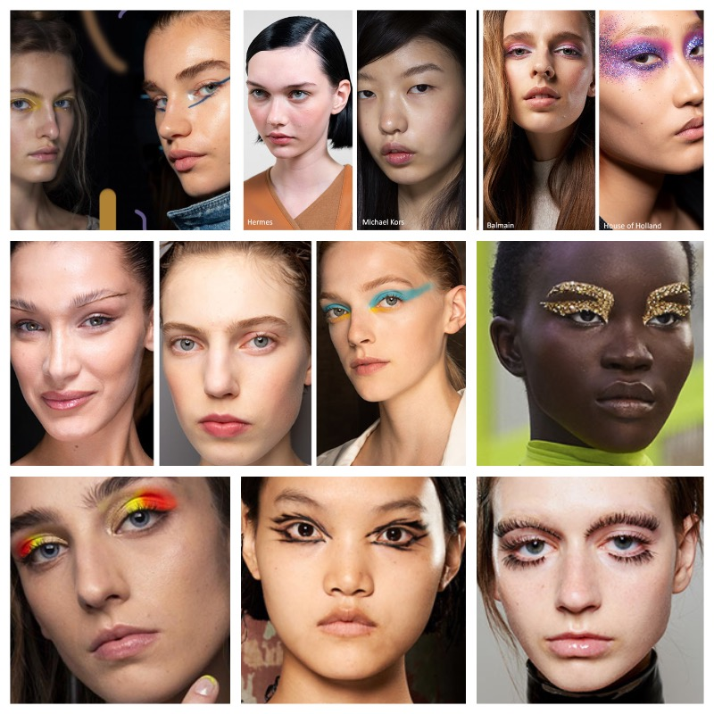 Collage FASHION SHOWS LENTE ZOMER 2020 MAKEUP